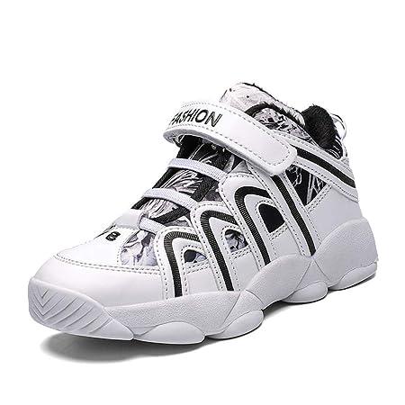 LFLDZ Zapatillas de Baloncesto para niños, Fashion High Help, para ...