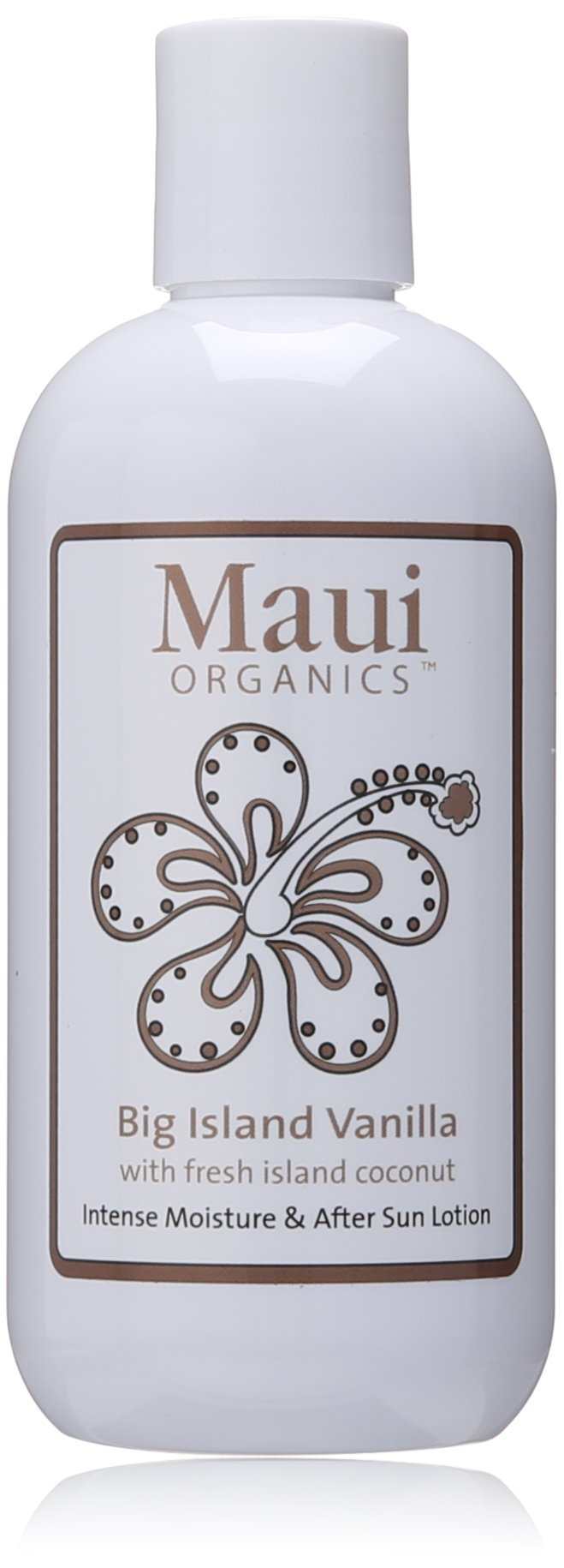 Maui Organics Intense Moisture and After Sun Lotion, Big Island Vanilla, 8.5 Ounce