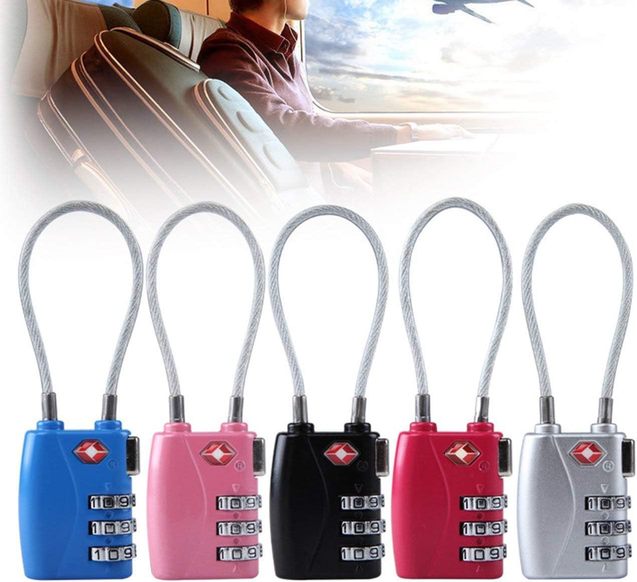 Bleu JIUY TSA719 3 Chiffres Password Lock Gym Locker /école de s/écurit/é de Verrouillage Valise Bagages Coded Verrouillage Armoire Cabinet Locker Padlock