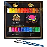 Oil Paints Set 24 Colors Premium Quality Oil Painting Kit for Artist,Students & Beginners - Perfect for Landscape and Portrait Paintings on Canvas by Crafts 4 All