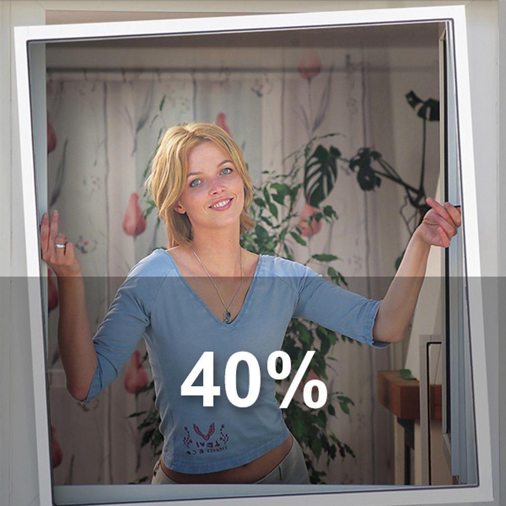 antracita Schellenberg 57508/Mosquitera fibra de vidrio de tejido transparente 140/x 250/cm//1,2/x 30/m