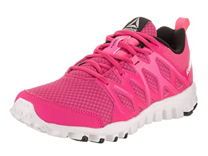 2f9b6a0fc45e Image Unavailable. Image not available for. Color  Reebok Womens Realflex  Train 4.0 Rose Pink White Black ...