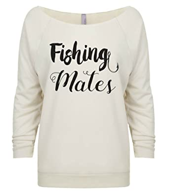 "Funny Threadz Women s Outdoor Long Sleeve ""Fishing Mates Sweat Shirt -  Country Girl Gift Small 032aa1260"