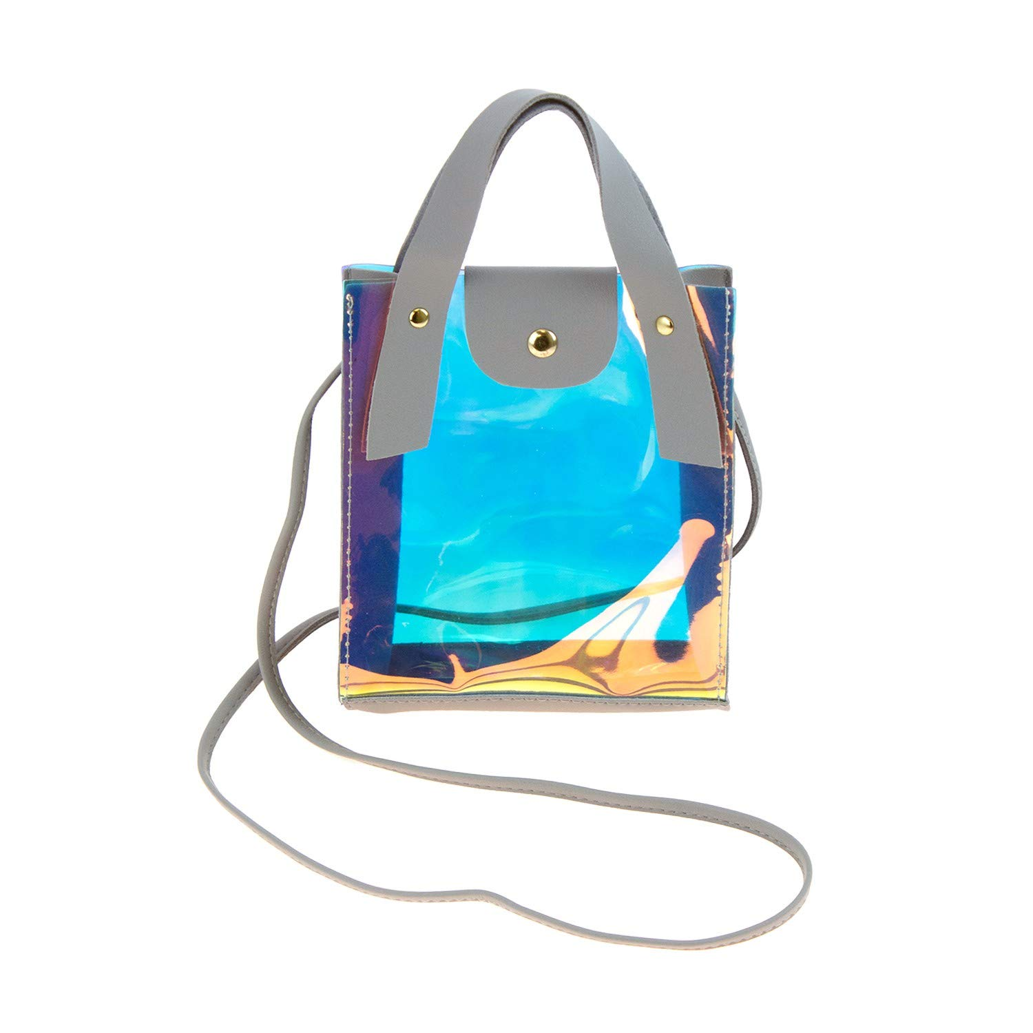 e50548e0b56e Amazon.com  Wholesale Women s Crossbody Bag Stadium Approved with Clear  Metallic in 3 Assorted Colors - Bulk Case of Shoulder Bags  Clothing