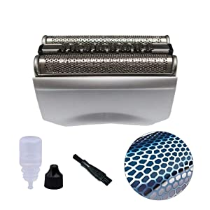 JRSHOME Ultra-sharp Shaver Foil Cutter Cassette Head w/Rozor Shaver Oil+ Clean Brush for Braun Pulsonic70S Series 7 799cc 760cc Silver