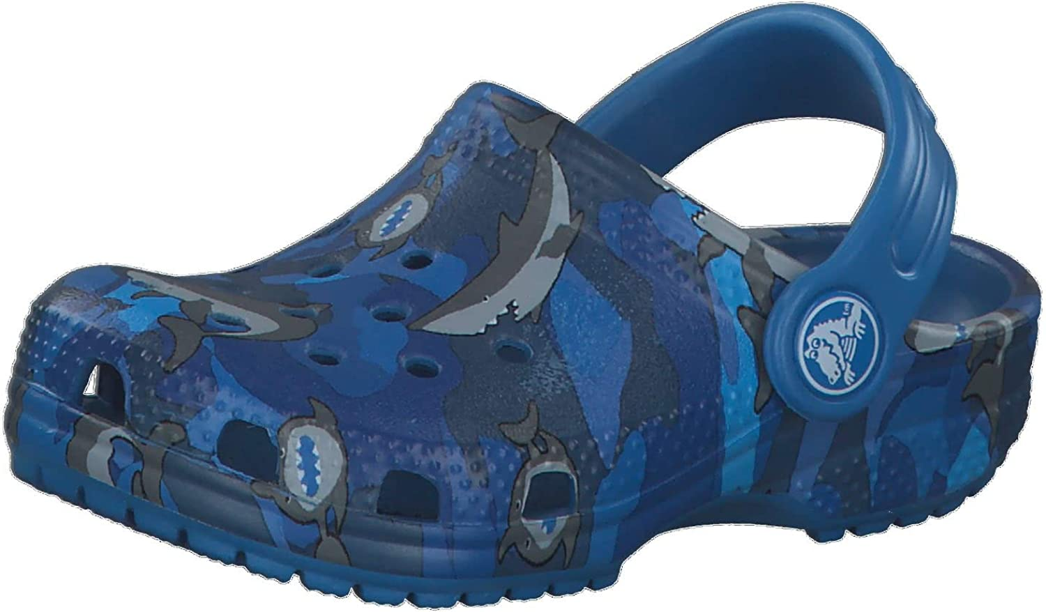 Crocs Kids' Classic Shark Clog | Slip On Shark Shoes for Boys and Girls