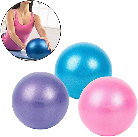 FOLWME 25cm Fitness Pilates Yoga Ball Massage Ballons de Fitness Relaxation Muscle Balls Flexibilit/é Balance Sports /Épaissir Anti-Slip