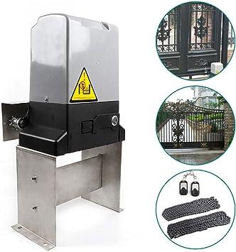 Kit de puerta corredera automática de 600 kg, 1400 libras, 370 W, control remoto de puerta eléctrico y cadena de 20 pies: Amazon.es: Bricolaje y herramientas