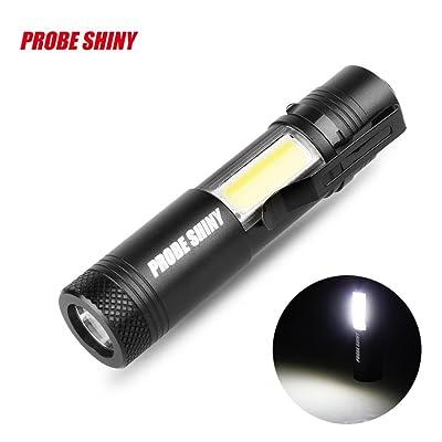 Squarex Super Bright XM-L Q5+ COB LED 4Mode 3500lm 14500lampe de poche lampe torche Size:92x20x20mm noir