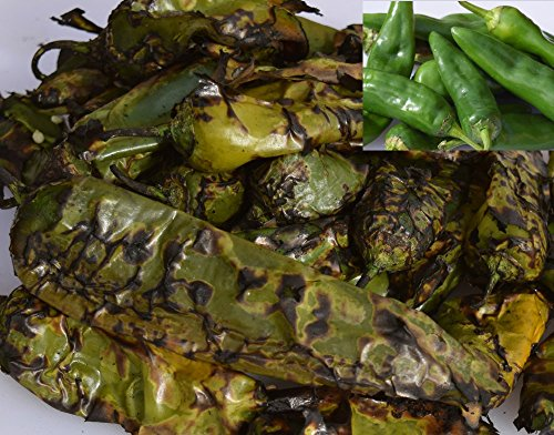 Green Roasted Chile (2 Lb. Fiery Extra-Hot Roasted Hatch Green Chile)