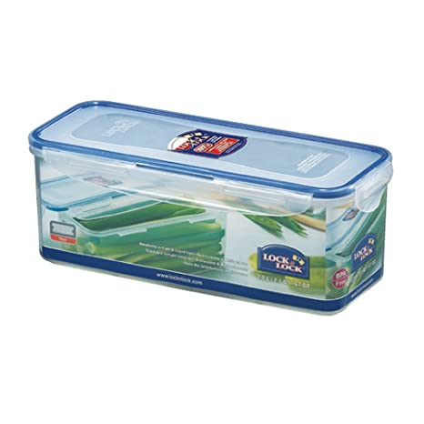 9dc2f9e8d94 Amazon.com  LOCK   LOCK Airtight Rectangular Food Storage Container with  Drain tray 64.63-oz   8.45-cup  Kitchen Storage And Organization Product  Sets  ...