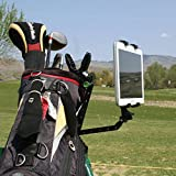 Golf Training Video Recording System: Record Your Swing with a Phone or Tablet using This Jaws Clamp, Aluminum Extension Arm, & Universal Mounts for Smartphone and Tablet. Operable with Any Phone, Tablet, or Use with GoPro Camera.
