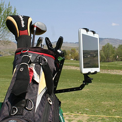 Golf Training Video Recording System: Record Your Swing with a Phone or Tablet using This Jaws Clamp, Aluminum Extension Arm, & Universal Mounts for Smartphone and Tablet. Operable with Any Phone, Tablet, or Use with GoPro Camera. by Golf Gadgets