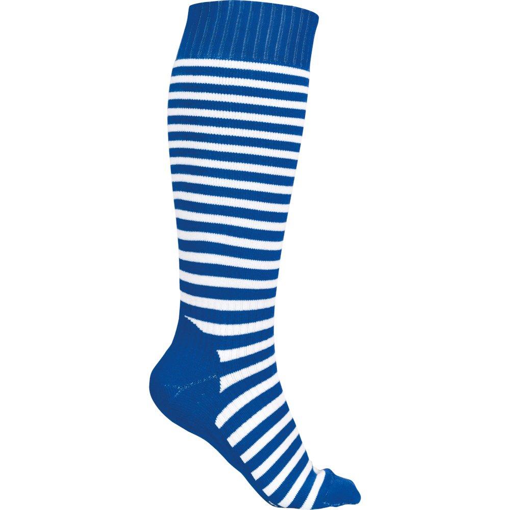 Stripes blau weiß Sionyx Snowboardsocke Skisocke Sportsocke Kniestrumpf Funktionsstrumpf Damen Herren Unisex