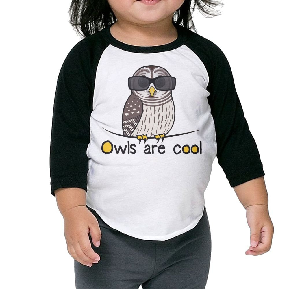 SH-rong Owls Are Cool Kids Round Collar T-shirt