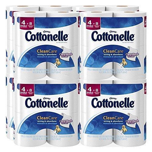 Cottonelle Clean Care Toilet Paper, Double Roll, 4 Count ...