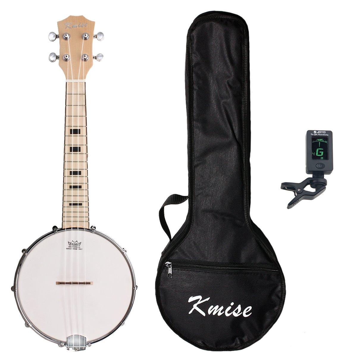 Kmise 4 String Banjo Ukulele Uke Concert 23 Inch Size Sapele With Bag Tuner Ltd MI1868-KUS