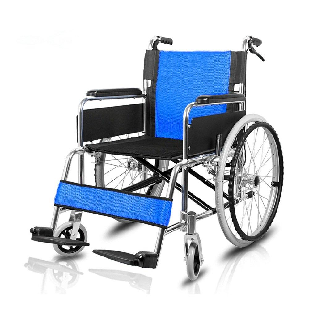 大洲市 MEI GUI 車いす/シニア車いす/身体障害者車折り畳み可能なアルミニウム合金快適で通気性のあるハンドブレーキ付きインフレータブルソリッドタイヤトロリー (色 (色 : : 青) MEI 青 B07L2TJ1HQ, RELAX WORLD:50ea01f3 --- a0267596.xsph.ru
