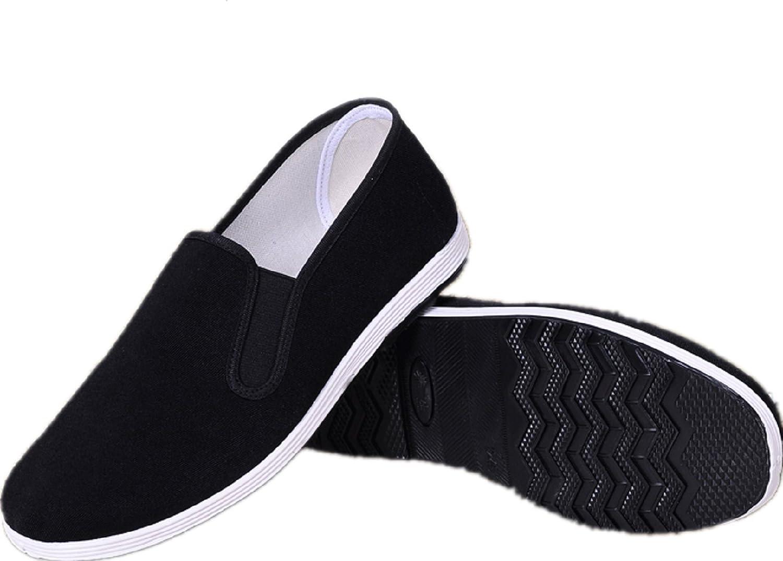 APIKA Chinesische Traditionelle Peking-Stil Schuhe Kung Fu Tai Chi Schuhe Gummisohle Unisex Schwarz  260mm EU42