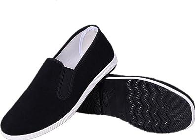APIKA Chinesische Traditionelle Peking Stil Schuhe Kung Fu Tai Chi Schuhe Gummisohle Unisex Schwarz  255mm EU41
