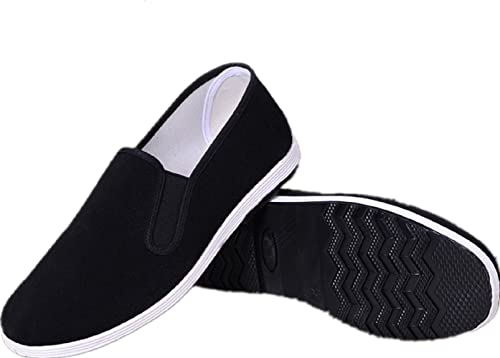 6c70a7921 APIKA Chinese Traditional Old Beijing Shoes Kung Fu Tai Chi Shoes Rubber  Sole Unisex Black (
