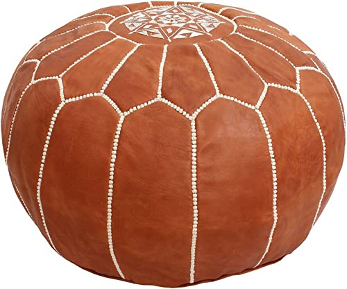 Baba Souk Moroccan Leather Pouf