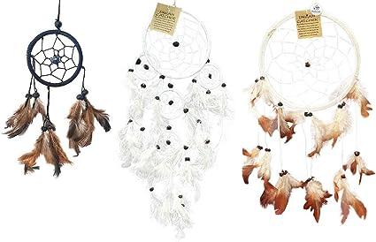3 X Vie Naturals Dream Catcher Bundle 16cm All White 3 Sizes 6cm 11cm