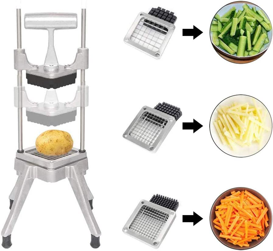 TOPQSC Vegetable Fruit Dicer,Food Cutter,Manual Cutting Chopper Machine with 304 Stainless Steel Blades of Size 1/4