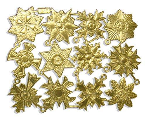 Kunze 12-Piece Dresden Medallions, Medium, Gold