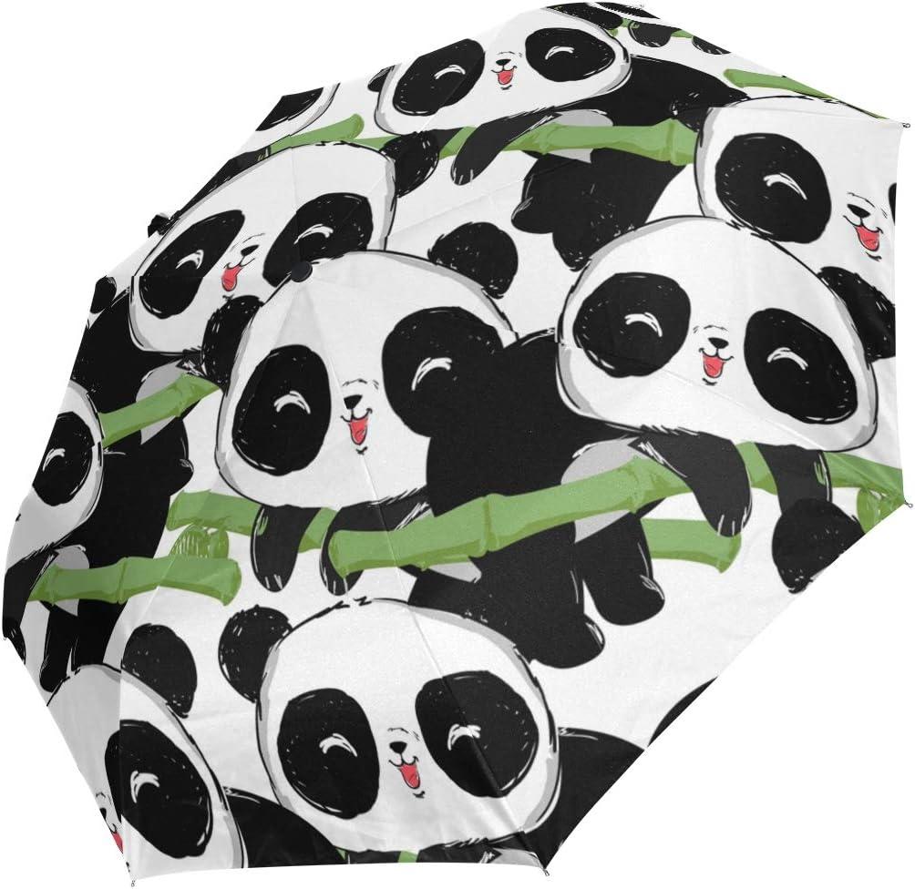 Hunihuni Parapluie Pliable en Bambou Motif Panda