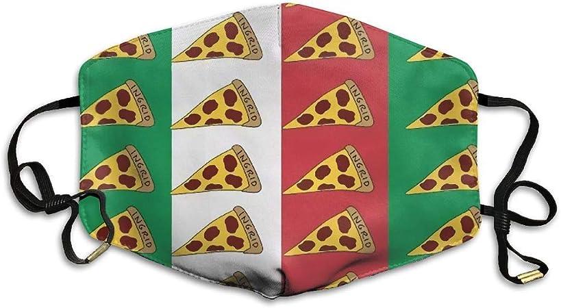 Jingliwang Mundschutz Pizza Slice Italien Flagge Italienische Lebensmittel Staub Waschbar wiederverwendbar und wiederverwendbar Mund warmes winddichtes Baumwollgesicht