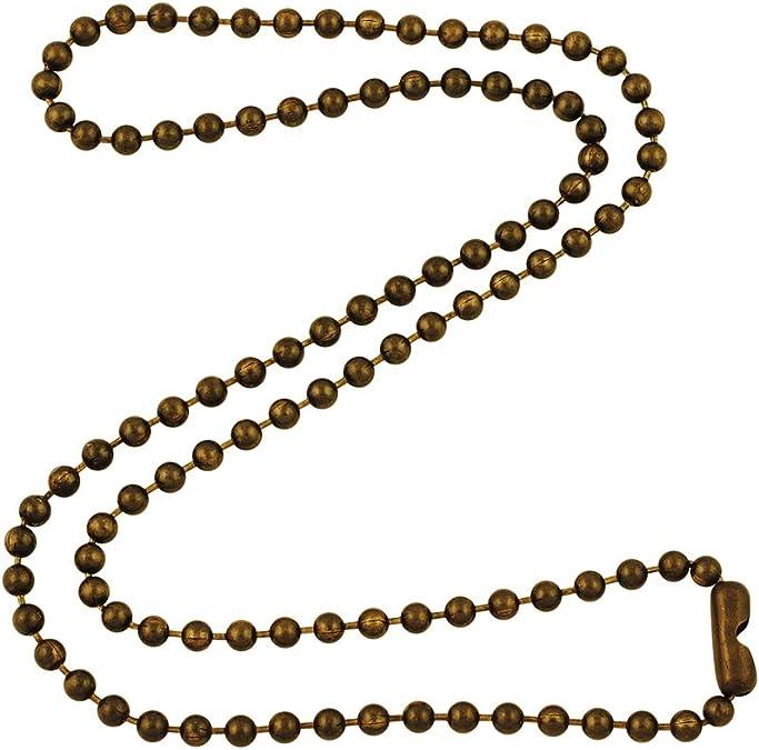 Antique Barrel Clasp Brass Ball Necklace.Filigree Brass Antique Brass Filigree Ball Chain Necklace.Old Estate Brass Beaded Ball Necklace