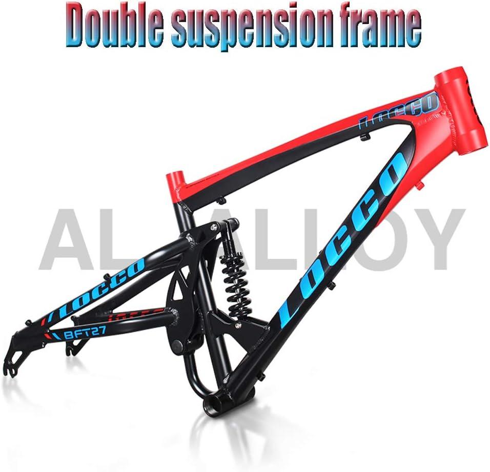 QMMD Mountain Bikes 26-Inch Full Suspension Aluminum Frame Adult Fat Tire Bicycle 27-Speed Mountain Trail Bike Mens Dual Disc Brake All Terrain Mountain Bike,blue Spokes,27 speed