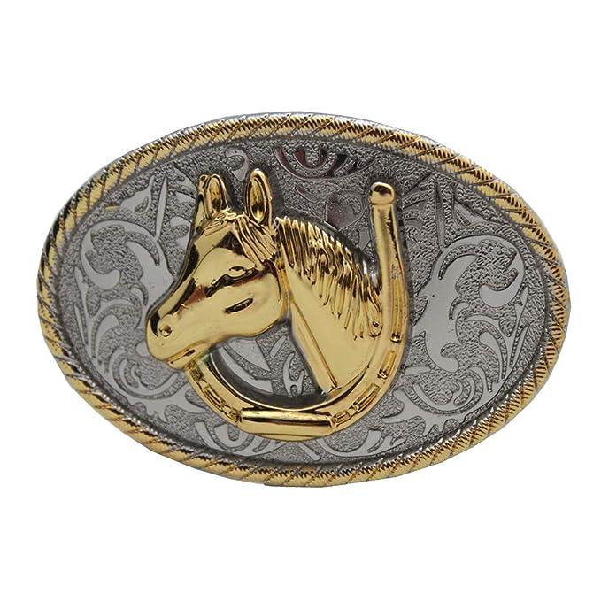 sito affidabile 9cdec bee60 Baoblaze Fibbia Cintura Cowboy American Durevole Accessorio ...