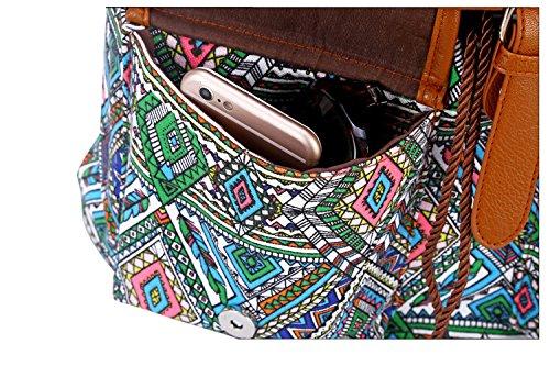 Dos Pour à à ethnique Imprimé Sac vent D Cartable étudiant Loisir Style à sac en sac à Sac dos loisir Voyages femme Dos Sac mode dos Toile pour q8fOdxwII