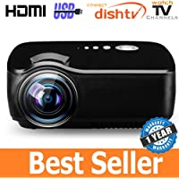 Mini LED Projector for Home HD Big Screen Entertainment for Movies Games etc 1080p Max Resolution Support