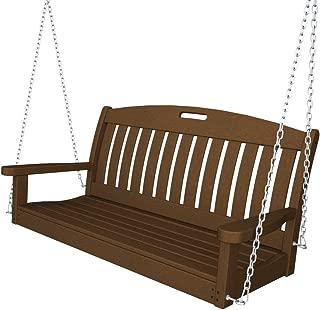 "product image for POLYWOOD NS48TE Nautical 48"" Swing, Teak"