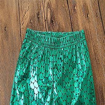 Toddler Kids Baby Girls Mermaid Scale Long Leggings Fish Tight Pants 1-5T