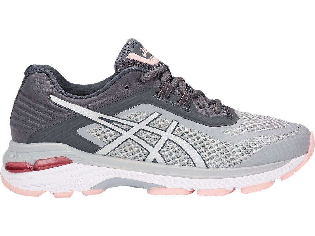 ASICS Women's GT-2000 6 Running Shoes, 5M, MID Grey/Silver/Carbon