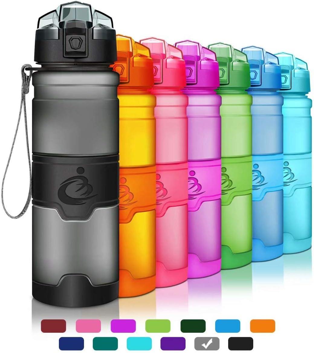 Grsta Sports Water Bottle,Leak-Proof Tritan Plastic BPA Free Kids Water Bottle with Filter Locking Flip Lid,14 Oz,17 Oz,25 Oz,33 Oz for Children,Running,Gym,School,Outdoors