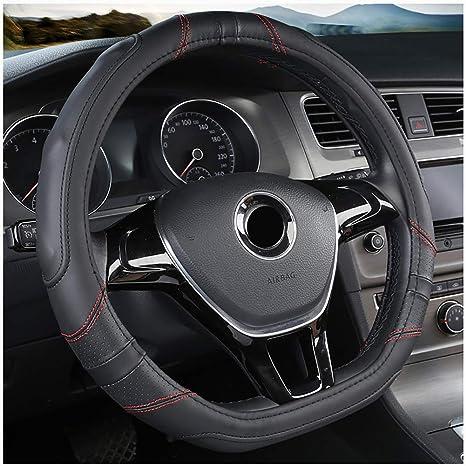 Car Home D-Form-Lederauto-Lenkrad-Abdeckung 38 cm anwendbar f/ür Kia Sportage Optima K5 f/ür Nissan Qashqai J11 X-Spur T32 2015 2016 2017 2018