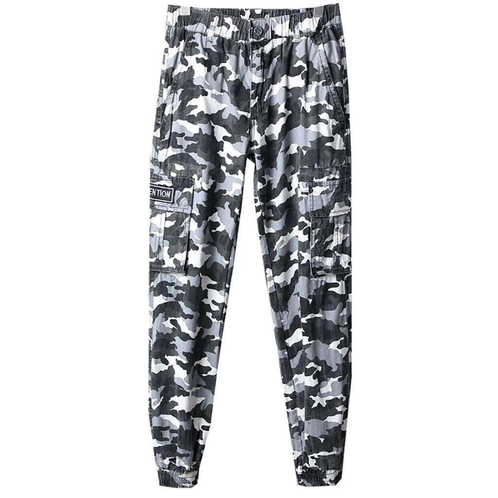 Camouflage Pant,Imakcc Men's Chino Jogger Pants Casual Fitted Cotton Camo Jogging Trouser(29, Camouflage) by Imakcc-Sports pants