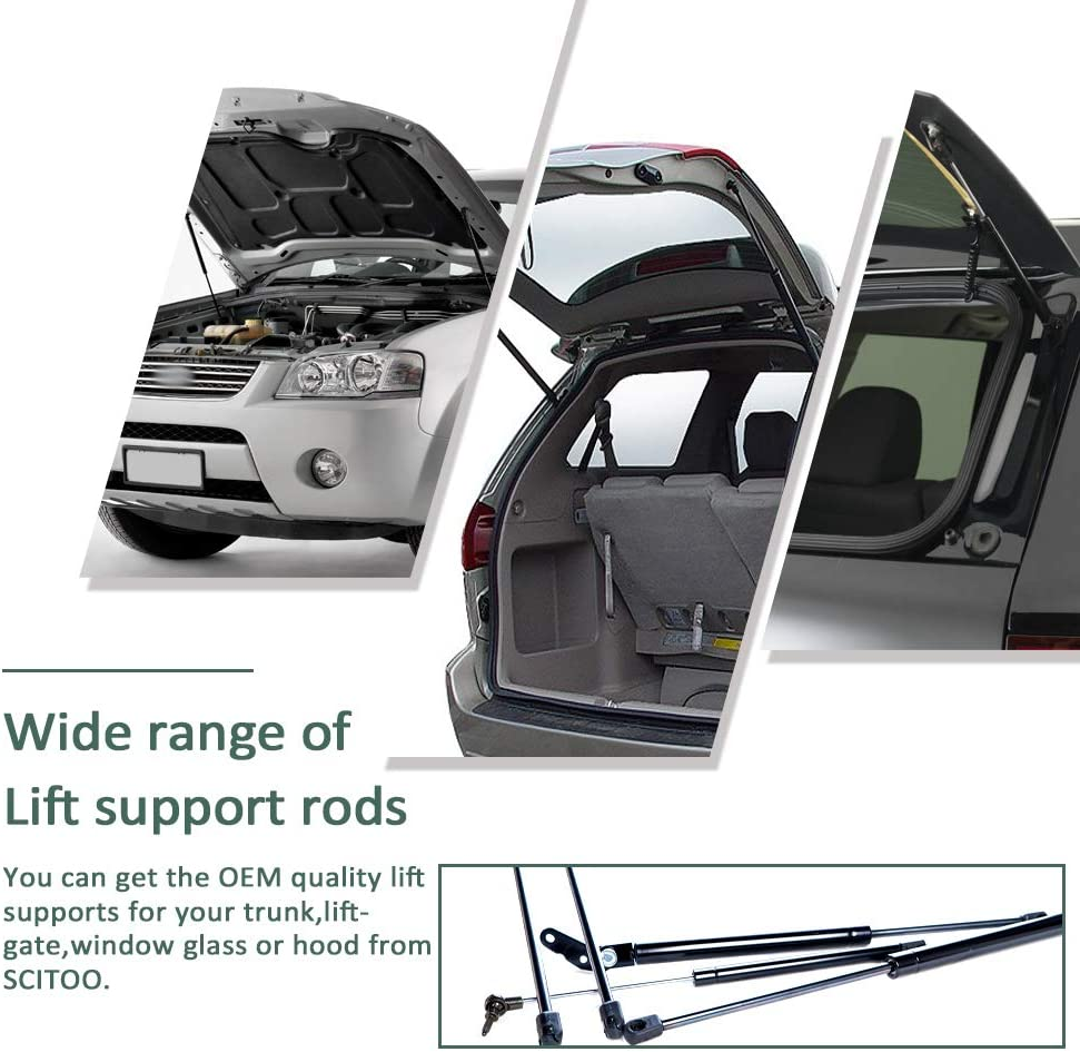2 Pcs Truck Camper Top Rear Window Lift Supports Charged Gas Springs Shocks Strut C16-08941