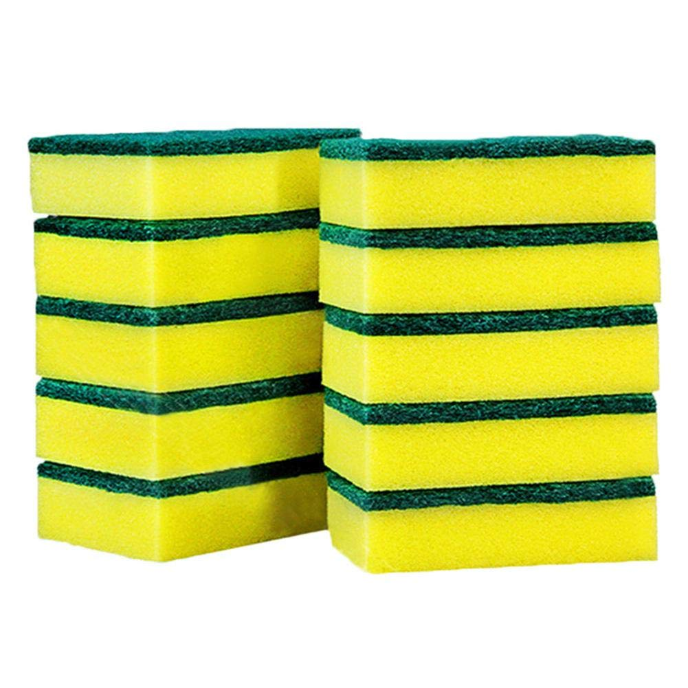 Red-eye 10PCS/Pack High-Density Sponge Scouring Pad Kitchen Cleaning Dishwashing Tool