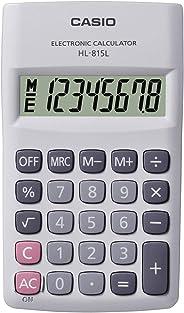 Calculadora de Bolso Vertical com Visor 8 Dígitos, Casio, HL-815L-WE, Branco