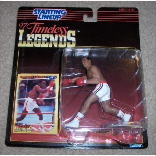 1997 Sugar Ray Leonard Boxing Timeless Legends Starting Lineup - Ray Line A