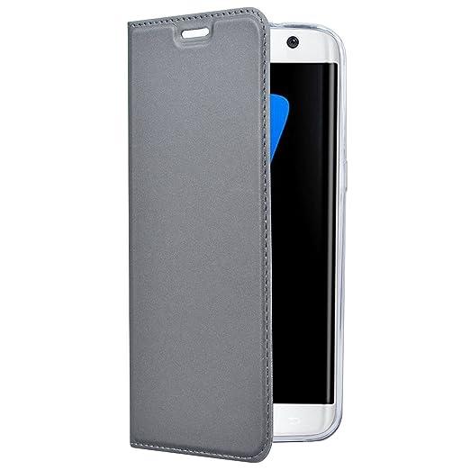 pretty nice b5856 7056d Amazon.com: Case for Samsung Galaxy S6/S7 Eege Plus Case PU Leather ...