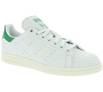 pretty nice 3af72 f48b2 adidas Zapatillas Stan Smith W Blanco Blanco Verde  Amazon.es  Zapatos y  complementos