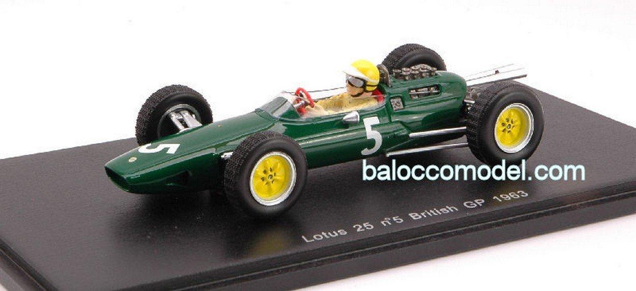 Spark Model S1611 Lotus 25 T.Taylor 63 N.5 1:43 MODELLINO Die Cast Model