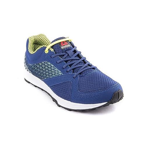 reebok blue running sports shoes